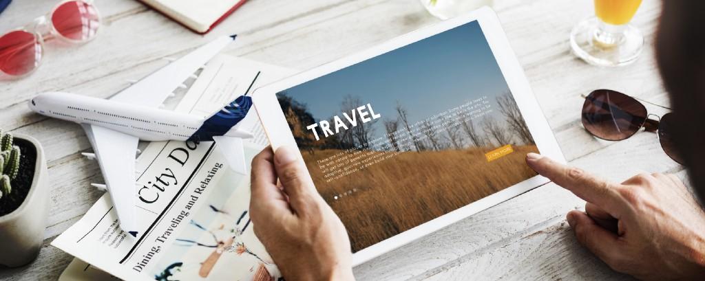 Travel marketing strategies on iPad